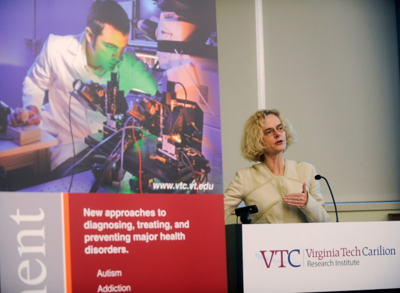 Dr. Nora Volkow speaks at a press conference announcing the National Quit & Recovery Registry